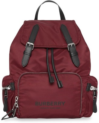 Burberry The Medium Rucksack in Logo Print Nylon