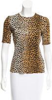 Dolce & Gabbana Leopard Print Short Sleeve Top