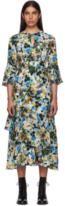 Erdem Multicolor Silk Floral Florence Dress