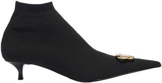 Balenciaga BB Knife Knit Booties in Black & Gold | FWRD