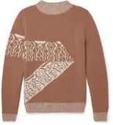 A.P.C. Jacquard-knit Wool Sweater - Brown