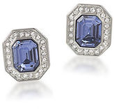 Carolee The Madison Crystal Button Stud Clip-On Earrings