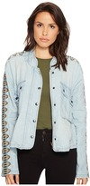 Free People Embroidered Chambray Jacket Women's Coat