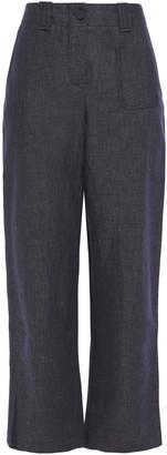 Giorgio Armani Cotton-blend Straight-leg Pants