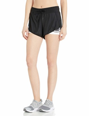 Body Glove Active Women's Pluto Loose FIT MESH Activewear Short with Tight UNDERSHORT