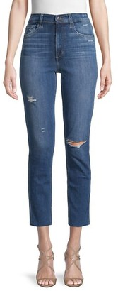 Joe's Jeans High-Rise Straight Ankle-Cropped Jeans