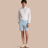 Burberry Cotton Poplin Chino Shorts , Size: 30, Blue