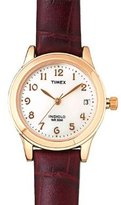 Brown Leather Indiglo Quick-Date Dress Watch