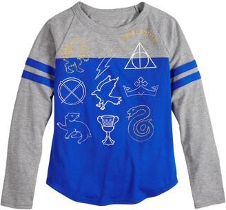 Icons Girls 7-16 Harry Potter Long Sleeve Tee Shirt