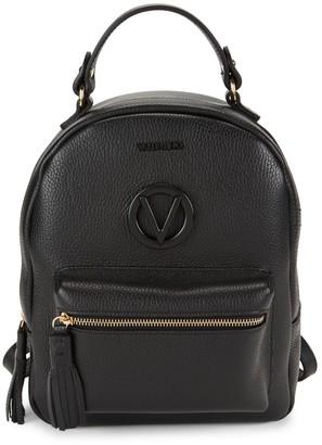 Mario Valentino Valentino By Bastien Dollaro Pebbled-Leather Backpack