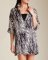 Twill Printed Polo Dress