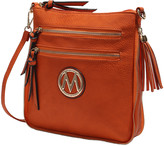 Mkf Collection By Mia K. MKF Collection by Mia K. Women's Handbags - Orange Expandable Tassel-Accent Crossbody Bag