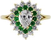 One Kings Lane Vintage Yellow Gold Diamond and Emerald Ring