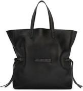 Jil Sander Black Lace Shopper Tote Bag