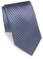 Brioni Mountain Embroidered Silk Tie