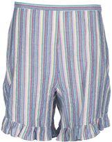See by Chloe Striped Ruffle Trim Shorts