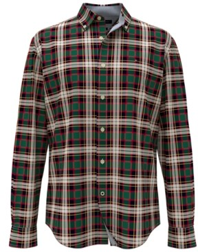 Tommy Hilfiger Men's Ogilvie Classic-Fit Th Flex Stretch Tartan Shirt