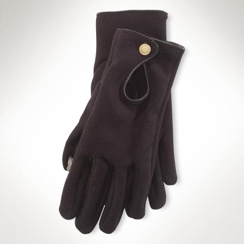 Ralph Lauren Fleece Keyhole Touch Glove