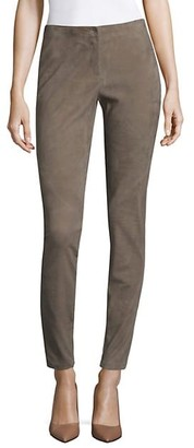 Lafayette 148 New York Velvety Stretch Suede Triboro Pant