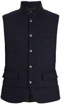 Polo Ralph Lauren Lloyd suede-trimmed quilted gilet