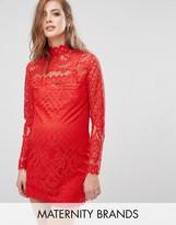 Missguided Maternity Lace Mini Dress