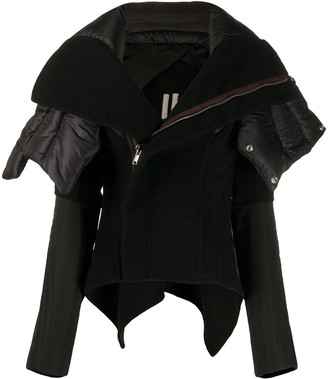 Rick Owens Off-Centre Padded Collar Jacket