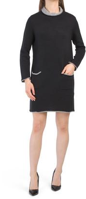 Long Sleeve Shift Sweater Dress