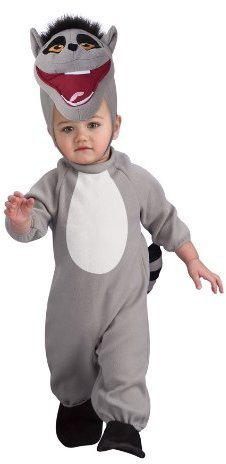 Rubie's Costume Co The Penguins Of Madagascar Romper And Headpiece King Julien