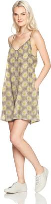 Obey Women's Hattie Button Front Strappy Dress