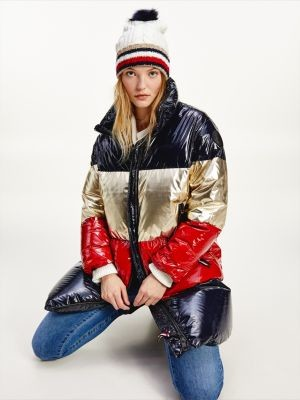 Tommy Hilfiger Colour-Blocked Down Padded Coat