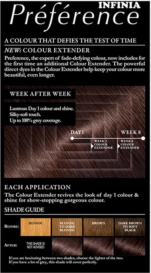 L'Oreal Preference Infinia Hair Dye (Various Shades) - 3.0 Brasilia Dark Brown