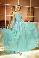 Alyce Paris - Strapless Sweetheart Beaded Bodice Silky Chiffon Long Dress 6285