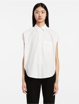 Calvin Klein Washed Poplin Circular Top