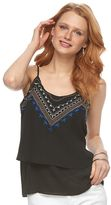 Apt. 9 Women's Embroidered Double-Layer Camisole