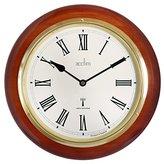 Acctim 74436 Durham Wall Clock, Mahogany