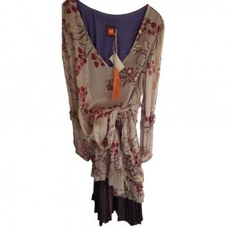 BOSS ORANGE Ecru Silk Dress for Women