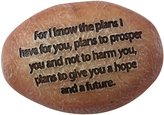 """Precious Moments 8153003 Pray It Forward Collection """"Know The Plans I Have for You"""" Resin Prayer Stone Religious Gifts"""