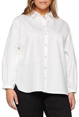 Ulla Popken Women's's Hemdbluse mit angeschnittener Knopfleiste Blouse,30
