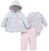 Little Me Infant Girls' Quilted Jacket Three Piece Set - Sizes 3-12 Months