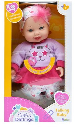 Little Darlings Toy Talking Baby Doll w/ 6 Sounds