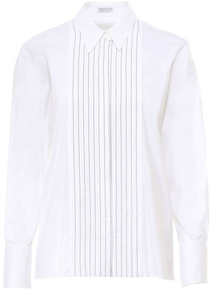 Brunello Cucinelli Stretch High Closure Shirt