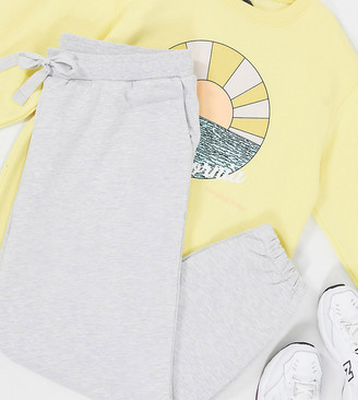 Collusion Plus skinny sweatpants in gray