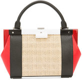 Perrin Paris mini structured tote bag - women - Leather/Rattan Fibres - One Size