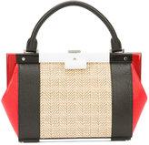 Perrin Paris mini structured tote - women - Leather/Rattan Fibres - One Size