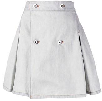 Matthew Adams Dolan A-line denim skirt
