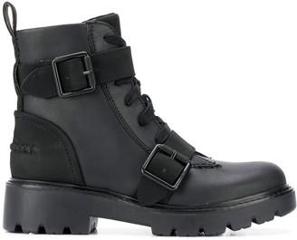 UGG Boucle-Embellished Combat Boots