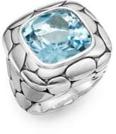 John Hardy Kali Blue Topaz & Sterling Silver Ring