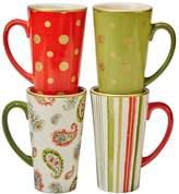 Certified International Home for the Holidays 4-pc. Mug Set