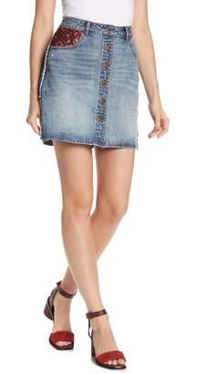 Scotch & Soda Button Front Denim Skirt
