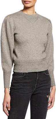 Etoile Isabel Marant Kelaya Puff-Sleeve Crewneck Sweater